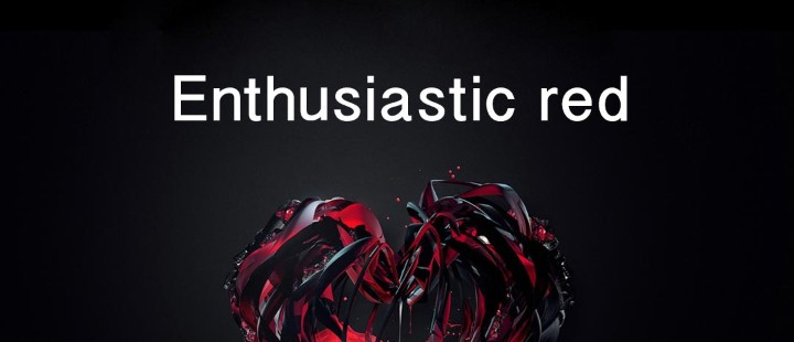 Enthusiastic red