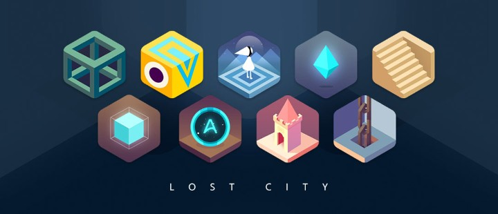Cartoon girl lost city