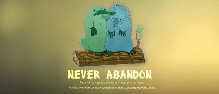 Never abandon