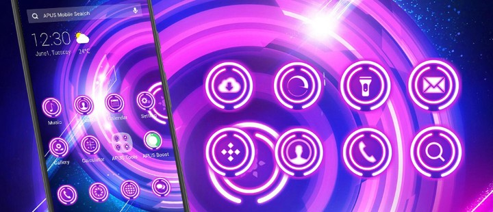 Purple Glowing Wheels