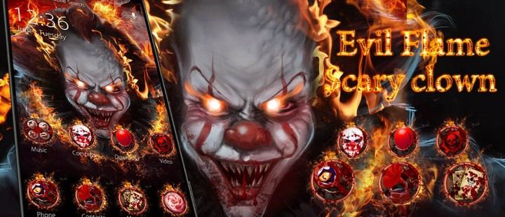 Evil Flame Scary Clown