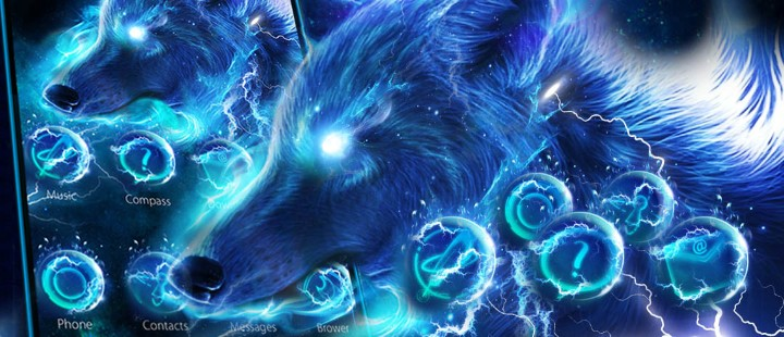 Starlight Galaxy Ice  Wolf
