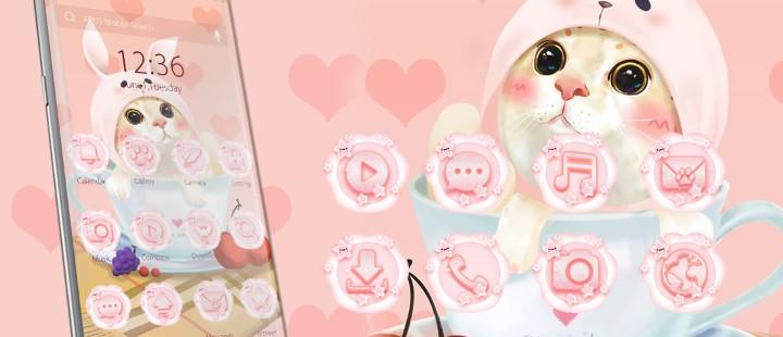 Cute Pink Kitten